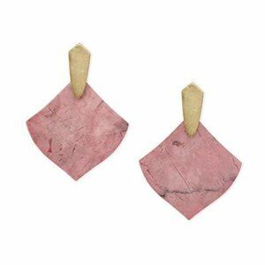 Kendra Scott Jewelry - Kendra Scott Astoria Drop Pink Rhodenite earrings